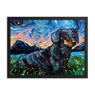 Dachshund Night, Black and Tan 3 Framed Photo Paper Poster