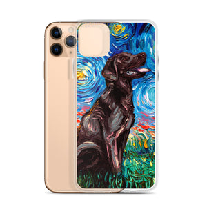 Labrador Night, Chocolate iPhone Case