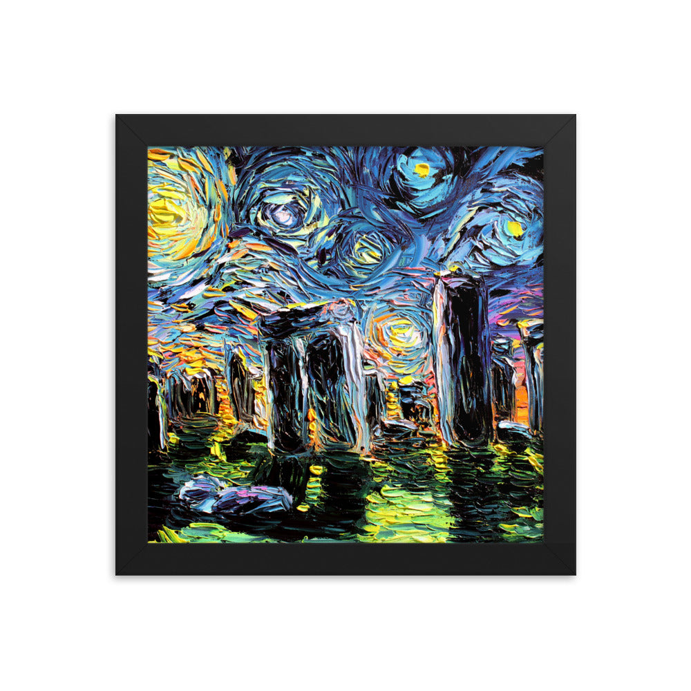 van Gogh Never Saw Stonehenge Framed Print