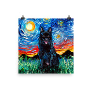 Schipperke Night Matte Poster Print