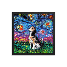 Load image into Gallery viewer, Beagle Night, Framed Print