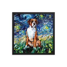 Load image into Gallery viewer, Boxer Night Framed Photo Paper Poster