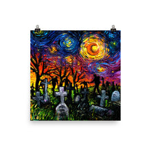 Load image into Gallery viewer, Starry Night of the Living Dead Matte Print