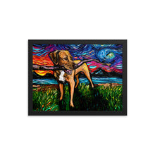 Load image into Gallery viewer, Vizsla Mix Night Framed Photo Paper Poster