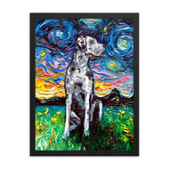 Great Dane Night, Merle Framed Print