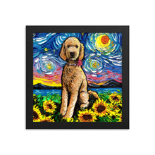Load image into Gallery viewer, Goldendoodle Night 2 Framed Photo Paper Poster
