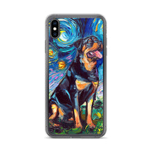 Load image into Gallery viewer, Rottweiler Night 2 iPhone Case