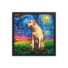 Load image into Gallery viewer, Labrador Night, Yellow 2 Framed Print
