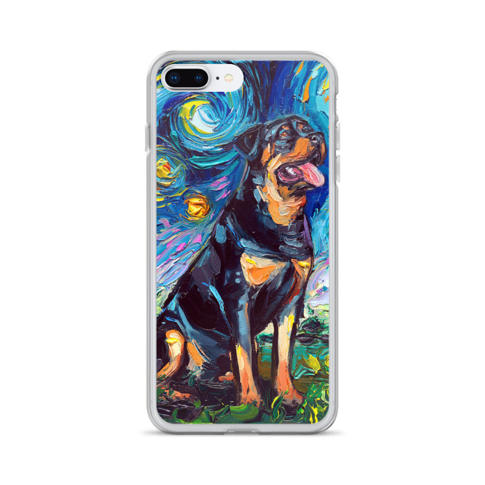 Rottweiler Night 2 iPhone Case