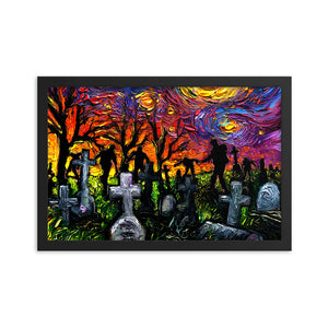 Starry Night of the Living Dead Framed Print