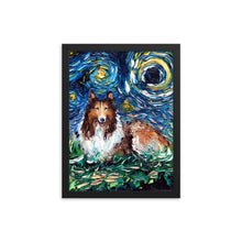 Load image into Gallery viewer, Collie Night Framed Photo Paper Poster