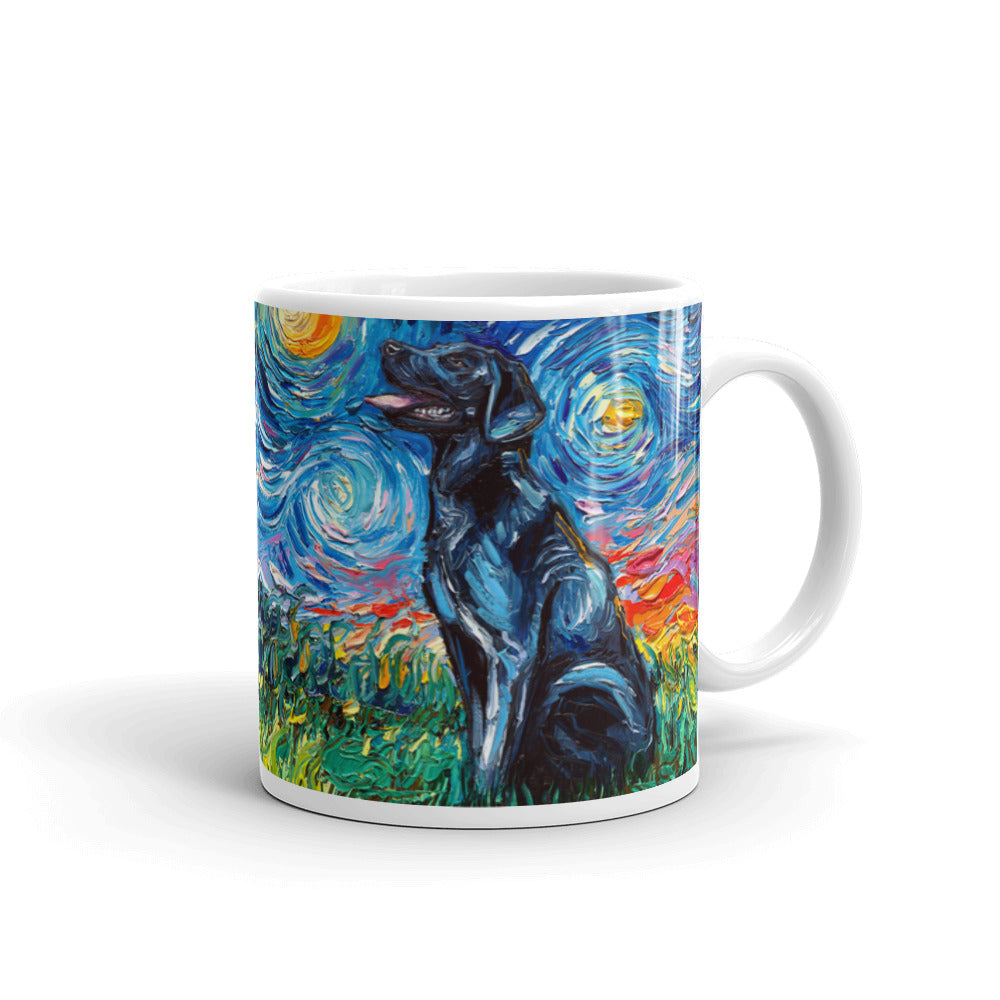 Labrador Night, Black, Coffee Mug