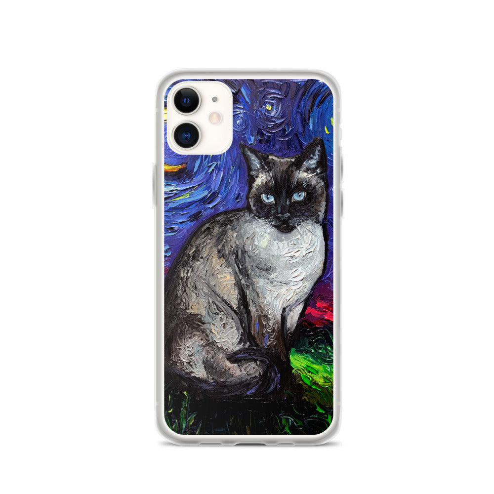 Siamese Night iPhone Case