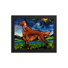 Load image into Gallery viewer, Irish Setter Night Framed Photo Paper Poster