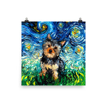 Load image into Gallery viewer, Yorkie Night Matte Poster Print