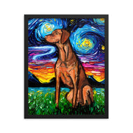 Vizsla Night, Framed Print