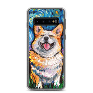 Corgi Night, Smiling Samsung Case