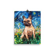 Load image into Gallery viewer, Fawn French Bulldog Night Matte Poster Print