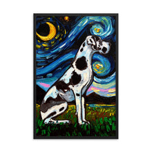 Load image into Gallery viewer, Great Dane Night, Harlequin Framed Print