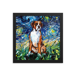 Boxer Night Framed Photo Paper Poster