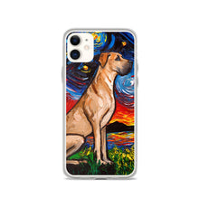 Load image into Gallery viewer, Great Dane Night, Fawn iPhone Case