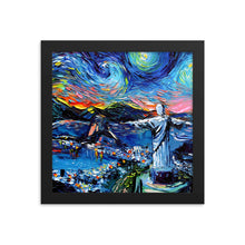 Load image into Gallery viewer, van Gogh Never Saw Christ the Redeemer Framed Print