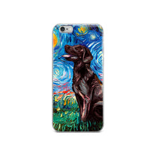Load image into Gallery viewer, Labrador Night, Chocolate iPhone Case