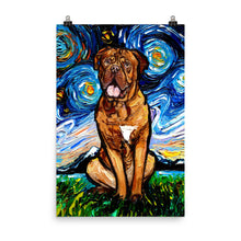Load image into Gallery viewer, Dogue De Bordeaux Matte Poster Print