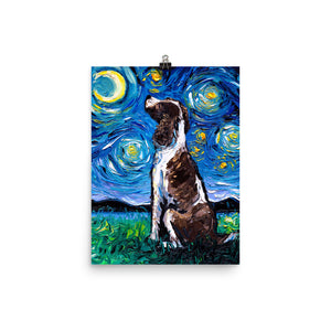English Springer Spaniel Night Matte Poster Print