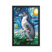 Load image into Gallery viewer, Whippet Night Framed Poster Photo Print