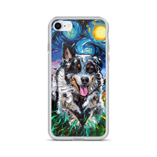Load image into Gallery viewer, Australian Cattle Dog Night iPhone Case