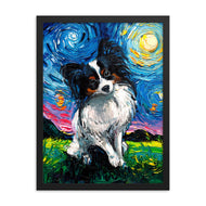 Papillon Night Framed Print