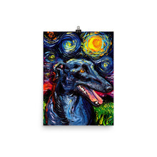 Load image into Gallery viewer, Greyhound Night Matte Poster Print