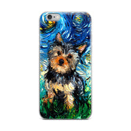 Yorkie Night iPhone Case