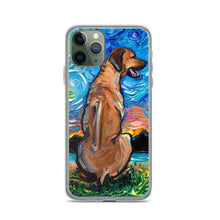 Load image into Gallery viewer, Rhodesian Ridgeback Night iPhone Case