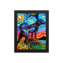 Load image into Gallery viewer, Labrador Night, Black 2 Framed Print