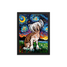 Load image into Gallery viewer, Chinese Crested Night Framed Photo Paper Poster