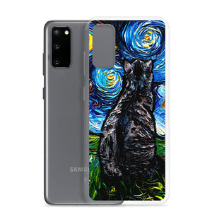 Gray Tabby Cat Night Samsung Android Case