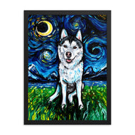 Husky Night 2 Framed Print