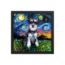 Load image into Gallery viewer, Schnauzer Night Framed Photo Paper Poster