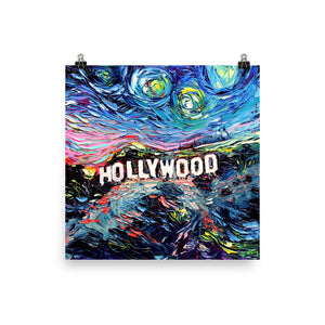 van Gogh Never Saw Hollywood Matte Poster Print