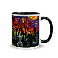 Starry Night of the Living Dead Mug with Color Inside