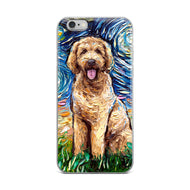Goldendoodle Night iPhone Case