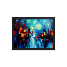 Load image into Gallery viewer, Midnight Harbor XV, Framed Photo Poster Print