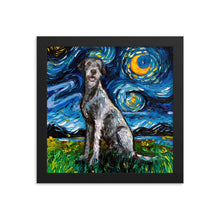 Load image into Gallery viewer, Irish Wolfhound Night Framed Photo Paper Poster