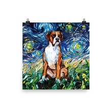 Load image into Gallery viewer, Boxer Night Matte Poster Print