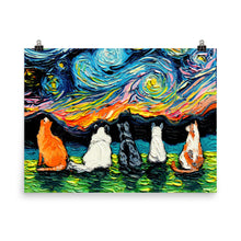 Load image into Gallery viewer, Starry Cats Matte Poster Print