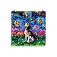 Beagle Night Matte Poster Print
