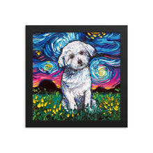Load image into Gallery viewer, Maltese Starry Night Framed Print