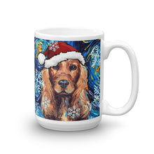 Load image into Gallery viewer, Cocker Spaniel Night, Red Version in Christmas Coffee Mug
